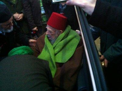 Mawlana Cheikh Nazim echarpe verte